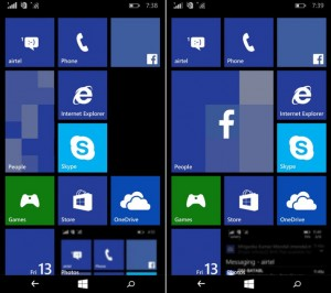 Tiles funções esperadas no windows 10 mobile redstone