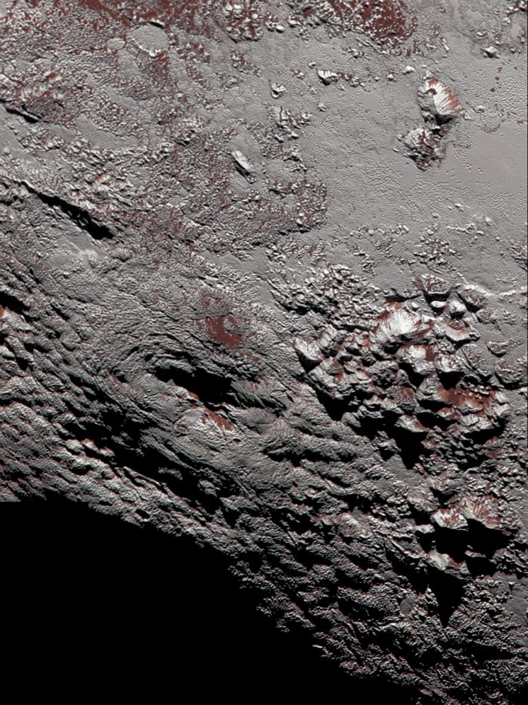Criovulcão em Plutão (Foto: NASA) nasa