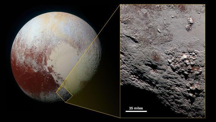 Criovulcão em Plutão (Foto: New Horizon/NASA) nasa