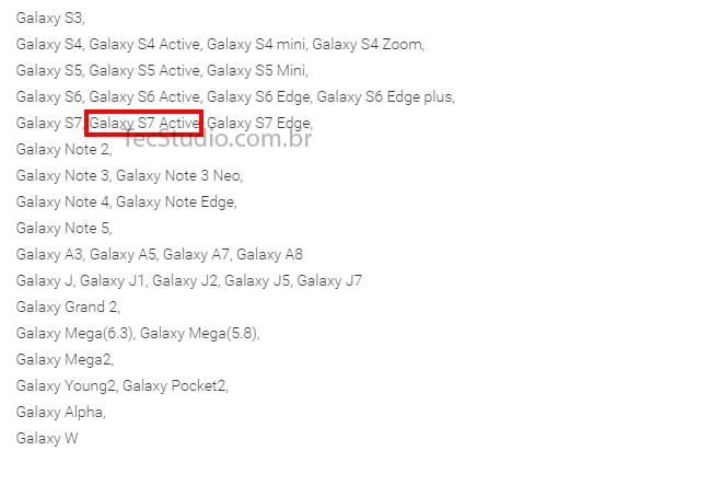 Galaxy Active S7 aplicativo da samsung confirma galaxy s7 active