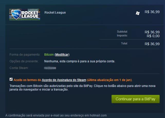 Steam steam: agora é possível comprar jogos com bitcoins