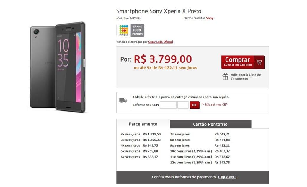 Xperia X brasil! xperia x pode custar muito para o seu bolso