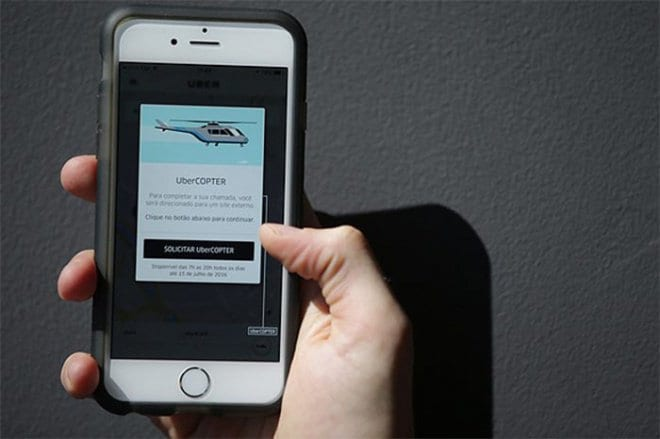 UberCOPTER ubercopter: dê uma volta de helicóptero com o uber por r$66