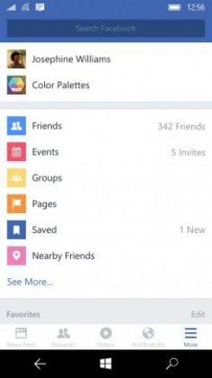 Windows 10 Mobile finalmente! windows 10 mobile recebe versão oficial do facebook com reações