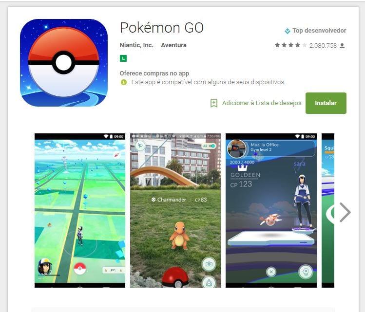 Pokémon Go pokémon go é lançado oficialmente no brasil