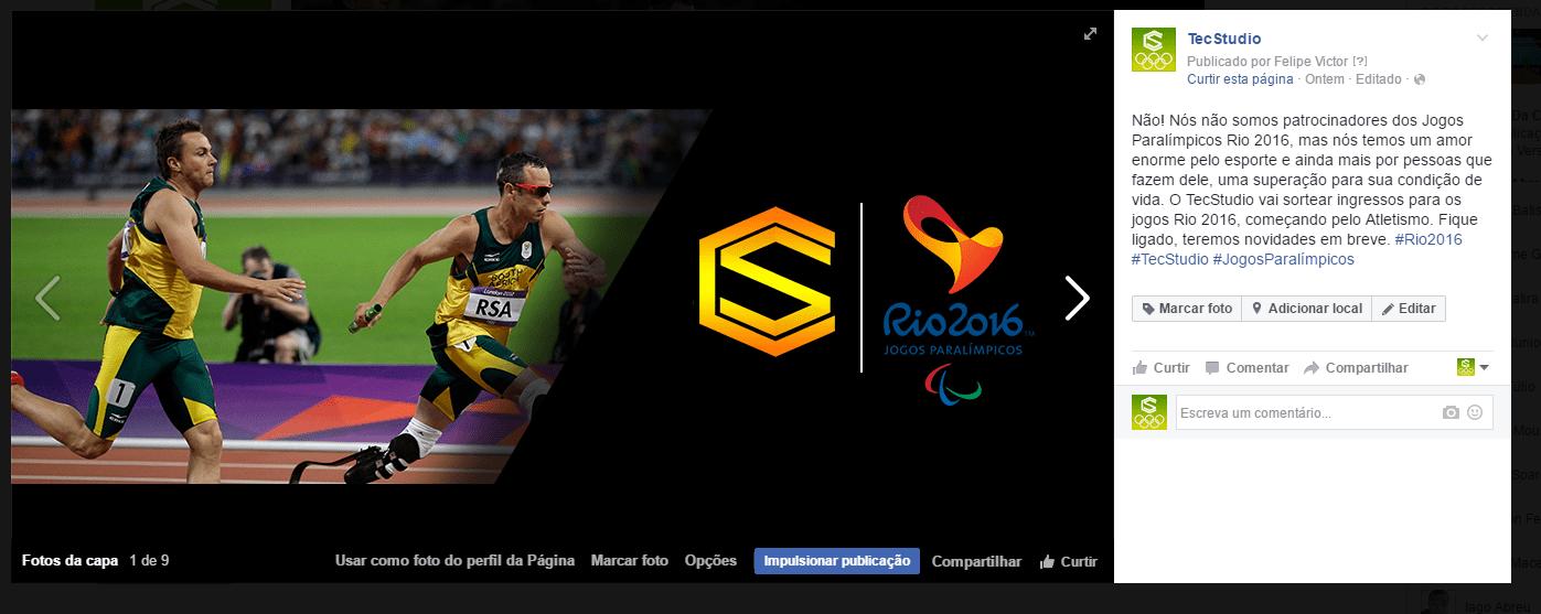 Jogos Paralímpicos participe! o tecstudio pode te dar ingressos para os jogos paralímpicos rio 2016