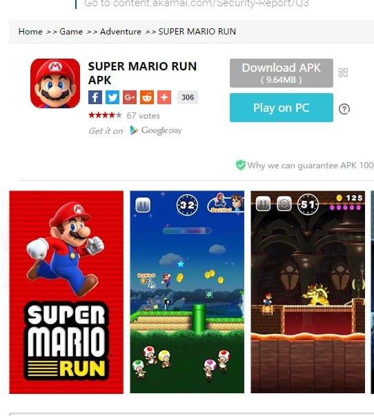 Super Mario Run vírus se passa por super mario run para roubar dados bancários