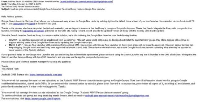 Google Now Launcher google now launcher tem fim anunciado