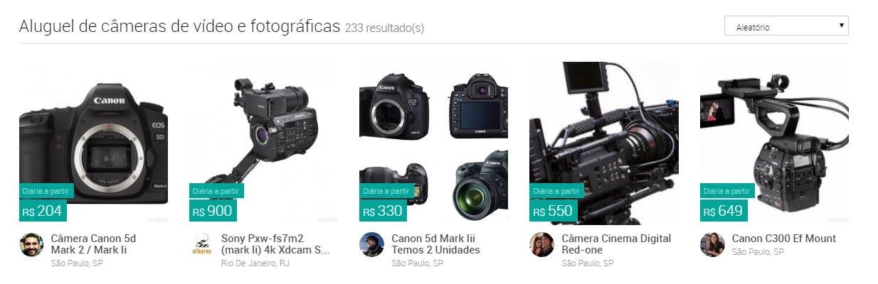 CenaZERO cenazero: já é possível alugar equipamentos de filmagem via internet