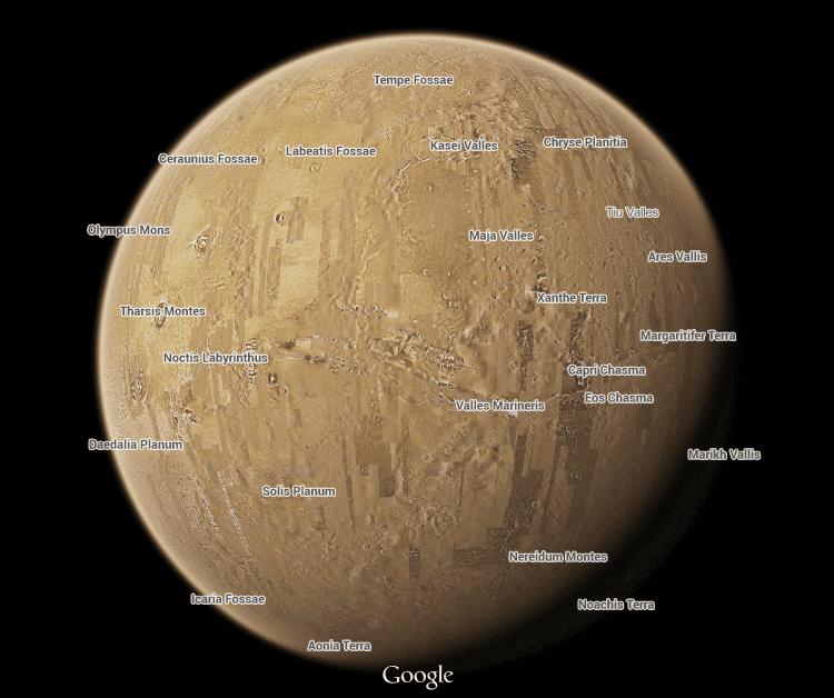 Google Maps ganha 12 novos planetas e luas para explorar