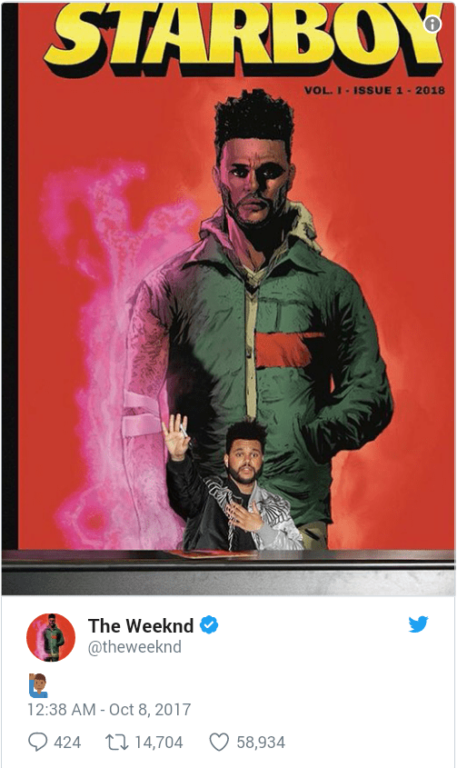 the weeknd anuncia parceria com a marvel comics